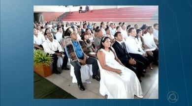 Casamento coletivo entre indígenas na Paraíba - Os casamentos foram realizados em Rio Tinto.