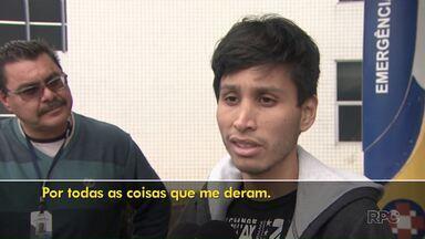 Estudante peruano baleado dentro do campus da UEPG deixa o hospital - Ele foi baleado durante um assalto. Dois adolescentes foram apreendidos suspeitos de terem ligação com a ação.
