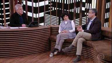Clarice e Ivo Herzog afirmam que é importante que se saiba o que ocorreu durante ditadura - Pedro Bial questiona convidados sobre a criação do Instituto Vladimir Herzog