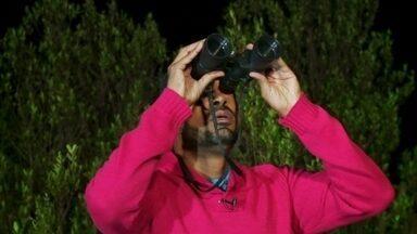 Hoje é dia de buscar ET: vigília noturna - Alexandre Henderson se junta a um grupo de ufólogos numa vigília noturna do céu no parque de Paranapiacaba, em Santo André, São Paulo.