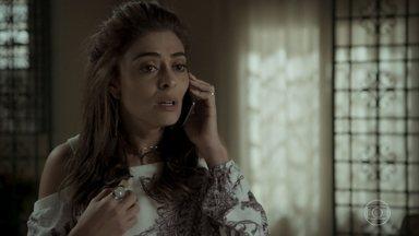 Bibi decide se aconselhar com Eugênio - Depois de sofrer ameaças de traficantes a moça fica sem saber o que fazer