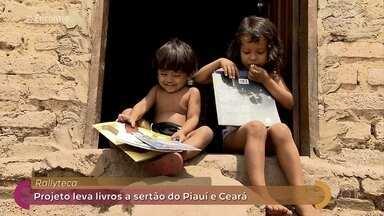 Projeto Rallyteca incentiva a leitura no sertão nordestino - Iniciativa aproveita rally para distribuir livros em comunidades no Ceará e no Piauí