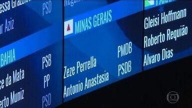 Nome de Aécio Neves é retirado do painel eletrônico do Senado - O nome do senador afastado foi removido depois de uma cobrança pública do Supremo Tribunal Federal.