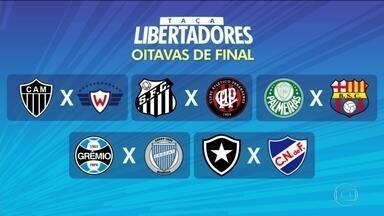 Sorteio define os confrontos das oitavas da Libertadores - Sorteio define os confrontos das oitavas da Libertadores