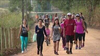 Caminhada do Imigrante reúne mais de 100 pessoas em Rio Novo do Sul no ES - Evento já virou tradição na cidade.