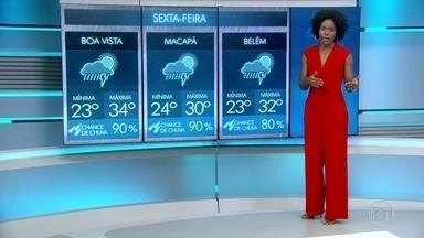 Previsão é de chuva para diversas regiões nesta sexta-feira (16) - Confira a previsão do tempo no vídeo.