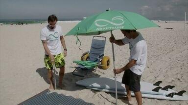 Paulinho Vilhena é o voluntário do Adaptsuf - O projeto promove a inclusão de pessoas com mobilidade reduzida por meio do esporte e acesso ao mar