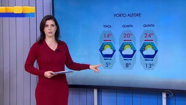 Tempo: Porto Alegre terá semana com sol entre nuvens - Terça-feira (20) será o dia mais frio.