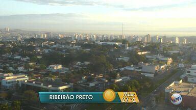 Confira a previsão do tempo para Ribeirão Preto nesta segunda-feira - Termômetros marcam máxima de 17 graus.