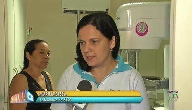 Unidade móvel do SESC oferece exames gratuitos para mulheres - Saiba mais em g1.com.br/ce