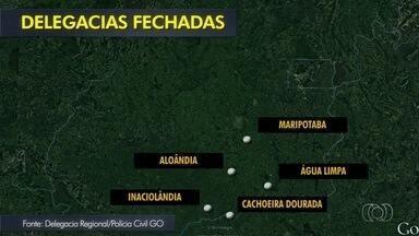 Sem delegacia em Cachoeira Dourada, população viaja 40 km para registrar ocorrência - Apenas 7 das 21 cidades da região possuem equipe completa com agente, escrivão e delegado, o que prejudica investigações.