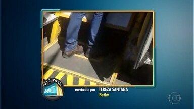 Moradora de Betim, cadeirante reclama de ônibus com elevadores sem funcionamento - 'O meu direito de ir e vir está sendo violado', disse a Tereza Santana.