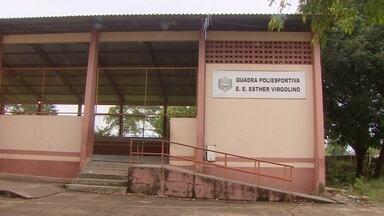 Escola Esther Virgulino, em Macapá, é invadida pela terceira vez em junho - Alunos estavam na quadra de esportes quando foram abordados pelos suspeitos na terça-feira (27). Polícia já identificou os suspeitos. Escola José Bonifácio, no Curiaú, também foi roubada.