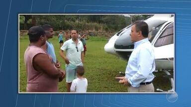Mau tempo provoca pouso forçado em helicóptero do governador Rui Costa no sul do estado - Ele estava na aeronave com um assessor, saindo de Ilhéus com destino a Itapé.