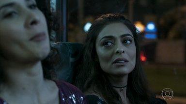 Bibi entrega o dinheiro da fuga de Rubinho - Ela encontra na rua e as duas conversam dentro do ônibus