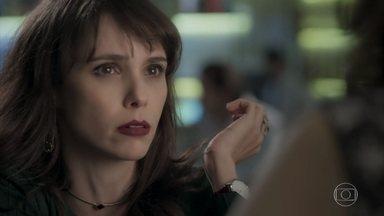 Irene nega estar envolvida com Eugênio - A arquiteta confessa estar em uma situação muito difícil