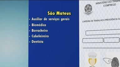 Ao trabalho: confira as vagas de emprego no Norte do ES - Veja as oportunidades no Sine de São Mateus.