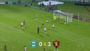 Sport vence o Coritiba e entra na zona de classificação para a Libertadores - Sport vence o Coritiba e entra na zona de classificação para a Libertadores
