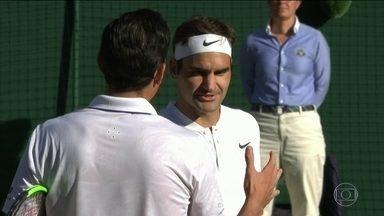 Federer passa para a semi em Wimbledon, e Marcelo Melo está na final das duplas masculinas - Federer passa para a semi em Wimbledon, e Marcelo Melo está na final das duplas masculinas