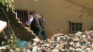 Perícia em local do desabamento é realizada em Garanhuns - Laudo pode demorar até 30 dias para ficar pronto.