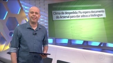 Wellington Silva treina no Fluminense mas só espera documento do Arsenal para das adeus - Wellington Silva treina no Fluminense mas só espera documento do Arsenal para das adeus