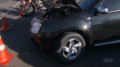 Acidente entre dois veículos deixa Colombo parcialmente interditada - Ninguém ficou ferido
