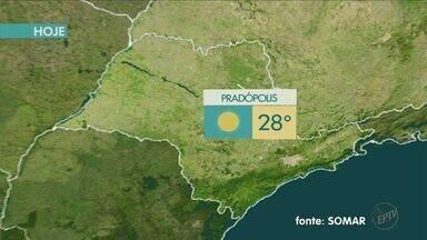 Confira a previsão do tempo para o final de semana na região de Ribeirão Preto - Umidade do ar cai para menos da metade do ideal e temperatura chega a 30ºC.