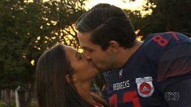 Goiânia Rednecks se prepara para torneio e tem até casal apaixonado no elenco - Equipe goiana vai disputar o Brasileiro de futebol americano. Serão 30 equipes em disputa, dividas por regiões.