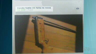 Homem vai preso ao anunciar na internet a venda de uma arma - Espingarda foi adaptada para usar balas de calibre 22