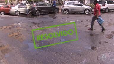 Após denúncia do BMD, buraco em via no Comércio é tapado - Motoristas que trafegavam na região reclamavam da situação.