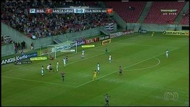 Vila Nova-Go perde para o Santa Cruz em Recife - Partida terminou em 1 a 0 e tigre caiu para a sétima colocação.