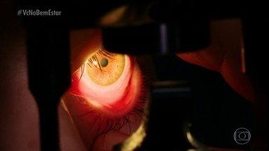 Adiar consulta ao médico pode provocar perda de visão para quem tem conjuntivite - Conheça a história de Isabela, que ficou cega de um olho após ter tido conjuntivite. Especialistas alertam para a importância do tratamento da doença o quando antes.