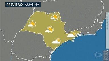 Confira a previsão do tempo para o sábado (22) em São Paulo - Vai ser mais um dia de tempo firme em todo o estado e principalmente no interior paulista a umidade relativa do ar pode descer a ladeira, ficar abaixo de 30%, quando o ideal é algo em torno de 60%.