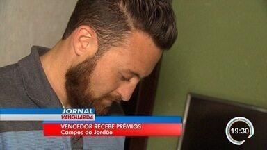 Morador de Campos do Jordão vence concurso Vanguarda Repórter - Ele ganhou um celular e uma televisão.