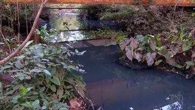 Córrego Prata está ameaçado pela poluição de um esgoto - Córrego Prata está ameaçado pela poluição de um esgoto