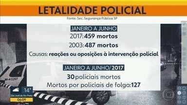 Número de pessoas mortas pela polícia no 1º semestre foi o maior dos últimos 14 anos - De janeiro a junho deste ano, policiais civis e militares mataram 459 pessoas. Desde 2003 não se registrava um número tão alto de mortos por policiais. Foram 487.