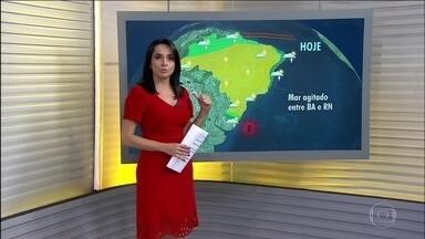 Confira a previsão do tempo para esta terça-feira (1) - O mês de agosto inicia com o tempo seco. Previsão de chuva para o Espírito Santo e Bahia.