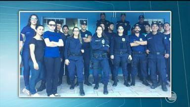 Guardas municipais fazem bolo de protesto após um ano de trabalho em Teresina - Guardas municipais fazem bolo de protesto após um ano de trabalho em Teresina