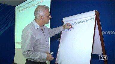 Representantes de municípios participam de treinamento em Balsas - Representantes de 20 municípios participam em Balsas de um treinamento sobre a implementação da lei geral das micro e pequenas e empresas.