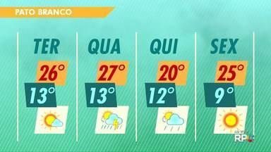Confira a previsão do tempo para o oeste e o sudoeste - Há previsão de pancadas de chuva durante a semana nas duas regiões.