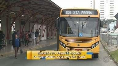 Nova empresa assume o transporte coletivo de Itajaí - Nova empresa assume o transporte coletivo de Itajaí