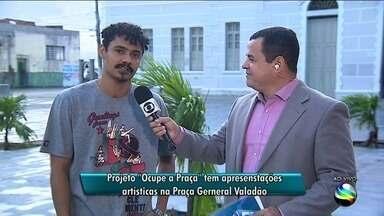 Projeto Ocupe Praça é realizado em Aracaju - Projeto Ocupe Praça é realizado em Aracaju.