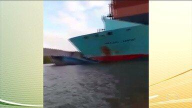 Rebocador de balsa afunda após bater com navio no rio Amazonas e 9 estão desaparecidos - De acordo com a Capitania Fluvial de Santarém, no empurrador havia 11 pessoas. Ao menos nove estão desaparecidas e duas conseguiram se salvar.