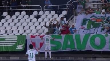 Os gols de Botafogo 1 x 2 Palmeiras pela 18ª rodada do Campeonato Brasileiro - Igor Rabello, contra, e Deyverson marcaram para os paulistas e Rodrigo Pimpão descontou para o Alvinegro.