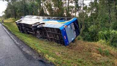 Oito pessoas morreram e 15 ficaram feridas em acidente com ônibus, no Paraná - O acidente foi na madrugada desta quinta-feira (03), na BR-277, em Palmeira.