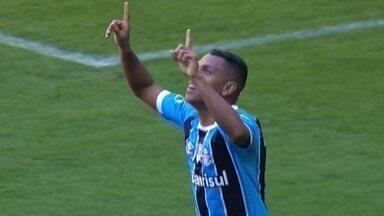 Os gols de Grêmio 2 x 0 Atlético-MG pela 19ª rodada do Brasileirão 2017 - Gaúchos vencem e seguem em segundo lugar, a oito pontos do líder, Corinthians.