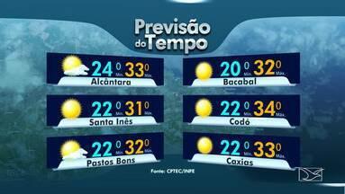 Veja a previsão do tempo para esta segunda-feira (7) em todo o Maranhão - Veja a previsão do tempo para esta segunda-feira (7) em todo o Maranhão