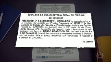 Leilão da folha de pagamento do estado chegou a mais de R$ 1, 7 bi - Leilão da folha de pagamento do estado chegou a mais de R$ 1, 7 bi. A publicação foi feita no Diário Oficial.