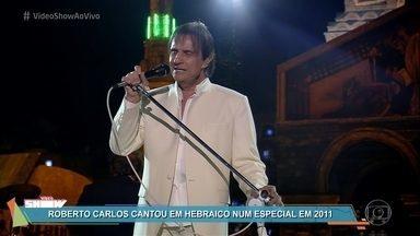 Relembre Roberto Carlos cantando em hebraico - O rei Roberto Carlos gravou o especial de fim de ano de 2011 em Jerusalém e se apresentou com música em hebraico