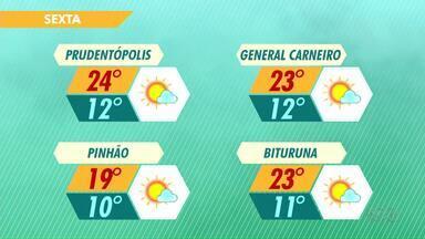 Tempo segue instável nesta sexta-feira e com temperaturas agradáveis na região - Tem mudanças no tempo previstas só pra domingo.